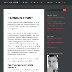 Earning Trust