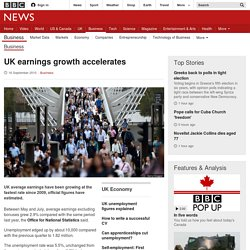 UK earnings growth accelerates - BBC News