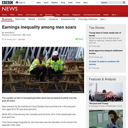 Earnings inequality among men soars
