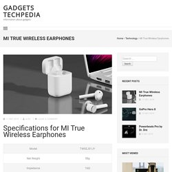 MI True Wireless Earphones Specifications, Features and Price in Nepal