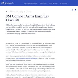 3M Combat Arms Earplugs Lawsuits