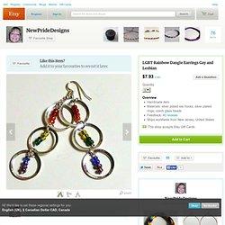 Rainbow Dangle Earrings by NewPrideDesigns