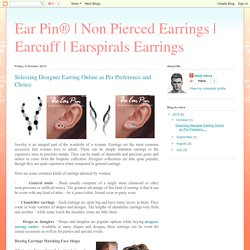 Earspirals Earrings: Selecting Designer Earring Online as Per Preference and Choice