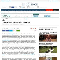 Earth 2.0: Bad News for God