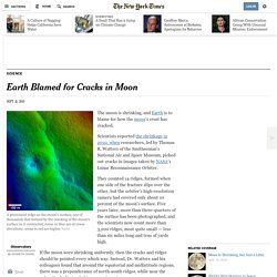 Earth Blamed for Cracks in Moon