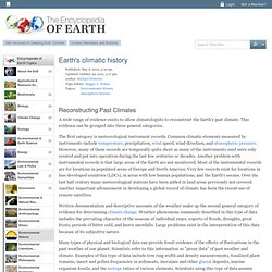 Earth's climatic history