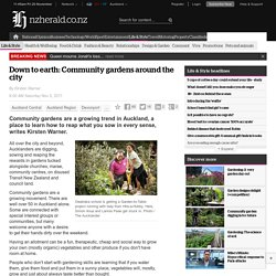 Down to earth: Community gardens around the city