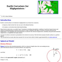Earth Curvature for Highpointers