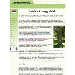 Earth's energy grid system. Curry, Hartmann and Ley lines