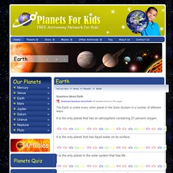 Earth Facts - Planet Earth - Earth For Kids