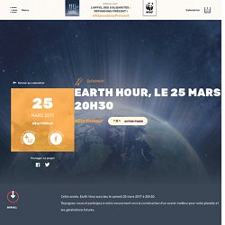 Earth Hour, le 25 mars à 20h30