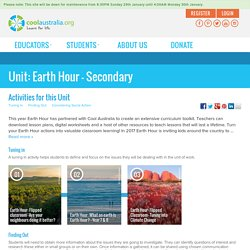 Earth Hour - Secondary - Cool Australia