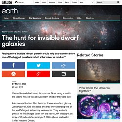 Earth - The hunt for invisible dwarf galaxies