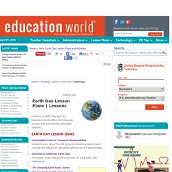 Earth Day Lesson Plans and Activities
