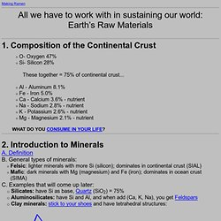 Earth Materials Outline