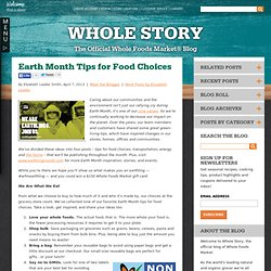 Earth Month Tips for Food Choices