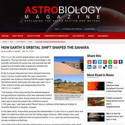 How Earth´s Orbital Shift Shaped the Sahara