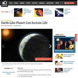 Earth-Like Planet Can Sustain Life