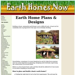 Earth Home Plans and Designs - the Basics