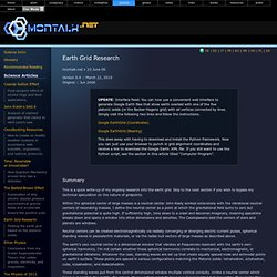 Earth Grid Research