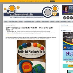 Earth Science Experiments for Kids #1 – What is the Earth Made of?