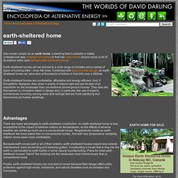 earth-sheltered home