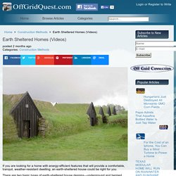 Earth Sheltered Homes (Videos)