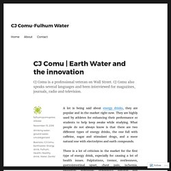 Earth Water and the innovation