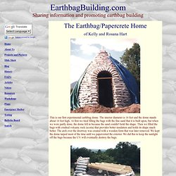 Earthbag & Papercrete Home: Hart House