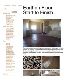 ∞ Earthen Floor Start to Finish