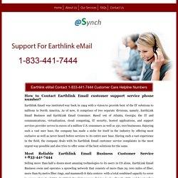 Earthlink eMail Customer Support Number 1-833-441-7444