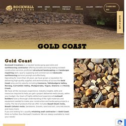 Rockwall Creations and Earthmoving Contractor at Gold Cost