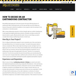 How to Decide on an Earthmoving Contractor - PB Earthworks