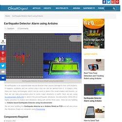 Arduino Earthquake Detector Alarm Circuit using Accelerometer