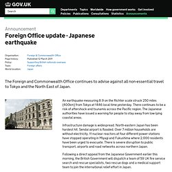 FCO - Japanese earthquake