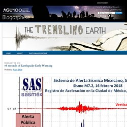 *****78 seconds of Earthquake Early Warning - The Trembling Earth - AGU Blogosphere