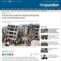 Why was the earthquake in Nepal such a devastating event?