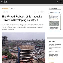 The Wicked Problem of Earthquake Hazard in Developing Countries