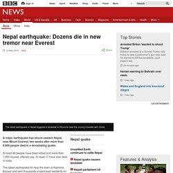 Nepal earthquake, magnitude 7.3, strikes near Everest