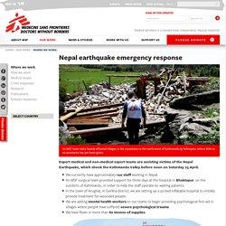 Nepal earthquake emergency response