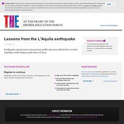 Lessons from the L'Aquila earthquake | Features