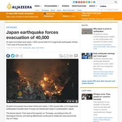 Japan earthquake forces evacuation of 40,000 - AJE News