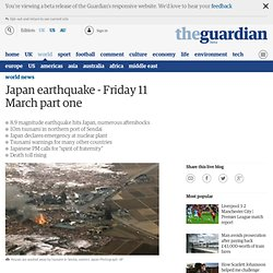 Japan earthquake - live updates