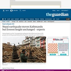 Nepal earthquake moves Kathmandu but Everest height unchanged – experts