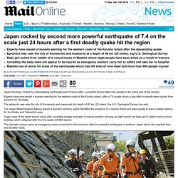 Japan earthquake of 7.4 magnitude comes 24 hours after country was hit by smaller quake