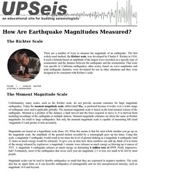 How Are Earthquake Magnitudes Measured?