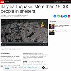 Italy earthquake: More than 15,000 people in shelters