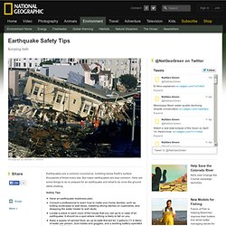 Earthquake Safety Tips, Earthquake Preparation, Earthquake Readiness
