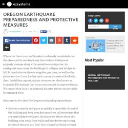 OREGON EARTHQUAKE PREPAREDNESS AND PROTECTIVE MEASURES