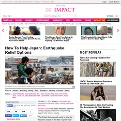 How To Help Japan: Earthquake Relief Options